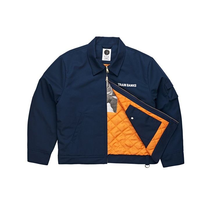 폴라스케이트코 자켓  TRAIN BANKS JACKET NAVY  POLAR SKATE CO