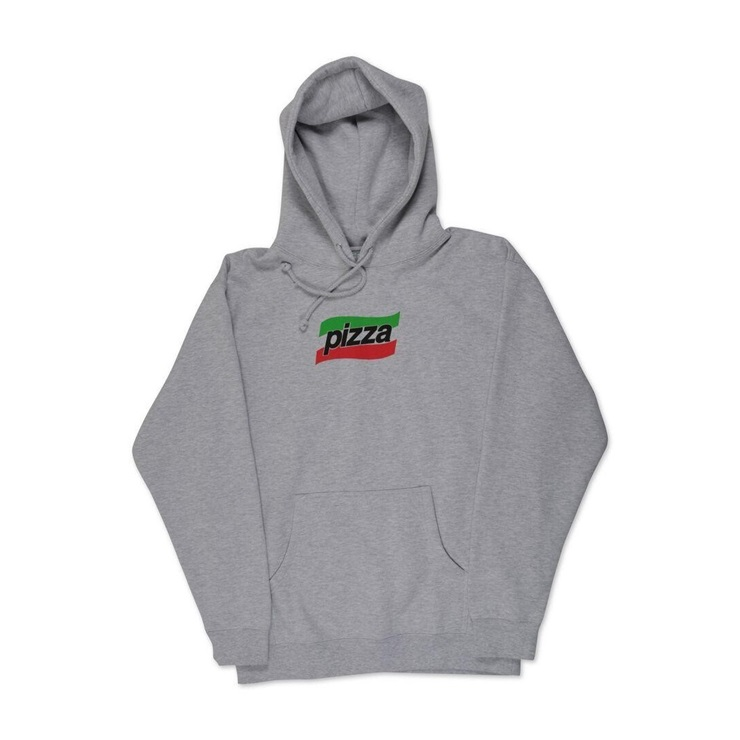 피자스케이트보드 후드 Spizza Hoodie Grey PIZZA SKATEBOARDS