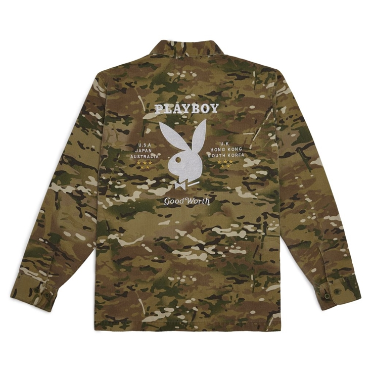 굿월스 자켓  GW X PB BDU SOUVENIR SHIRT DUCK CAMO  GOOD WORTH