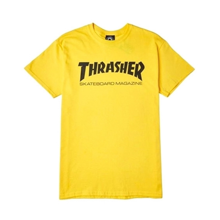 트래셔 티셔츠  THRASHER Skate Mag Tee Yellow  THRASHER