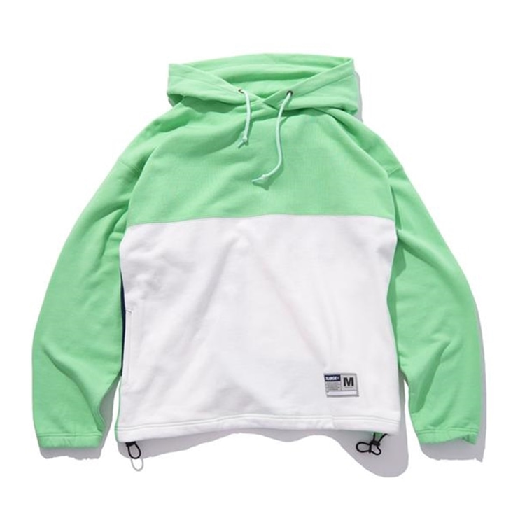 엑스라지 후드  COLORBLOCK HOODED SWEAT PALEGREEN  XLARGE
