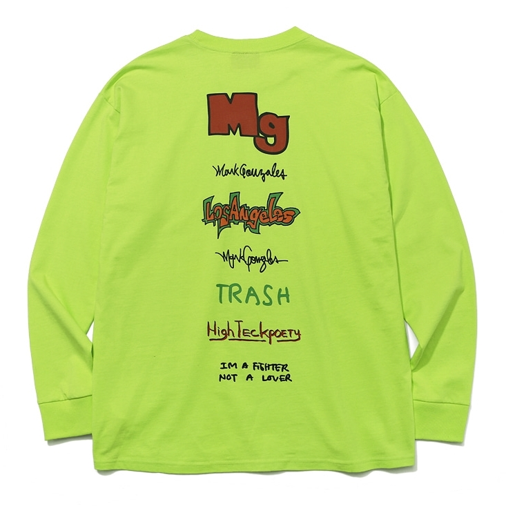 마크곤잘레스 롱슬리브  MULTI LOGO LONG SLEEVE NEON  MARKGONZALES