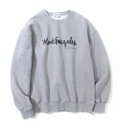 마크곤잘레스 크루넥MARK GONZALES SIGN LOGO CREWNECK GRAYMARKGONZALES