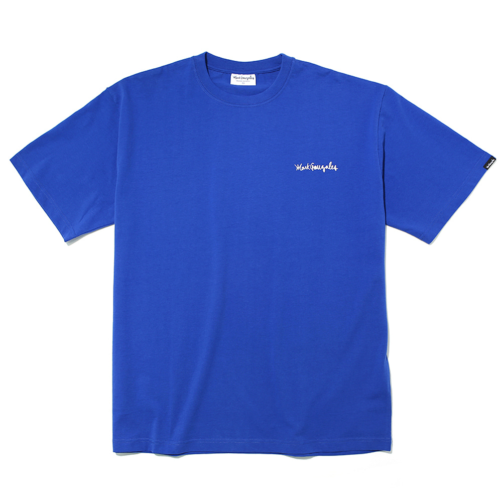 마크곤잘레스 티셔츠M/G SMALL SIGN LOGO T-SHIRTS BLUEMARKGONZALES