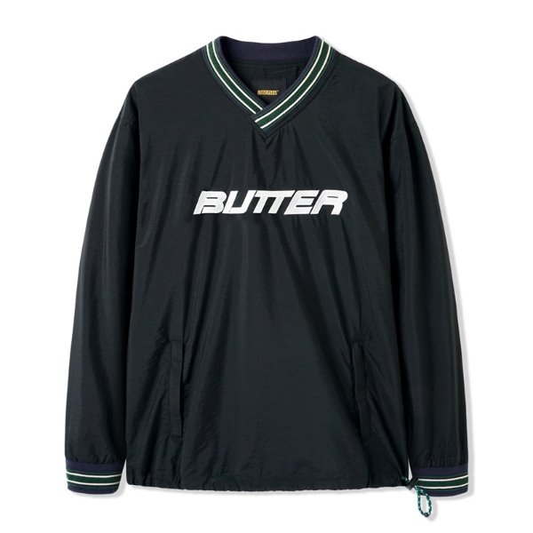 버터굿즈 풀오버  DUGOUT PULLOVER BLACK  BUTTER GOODS