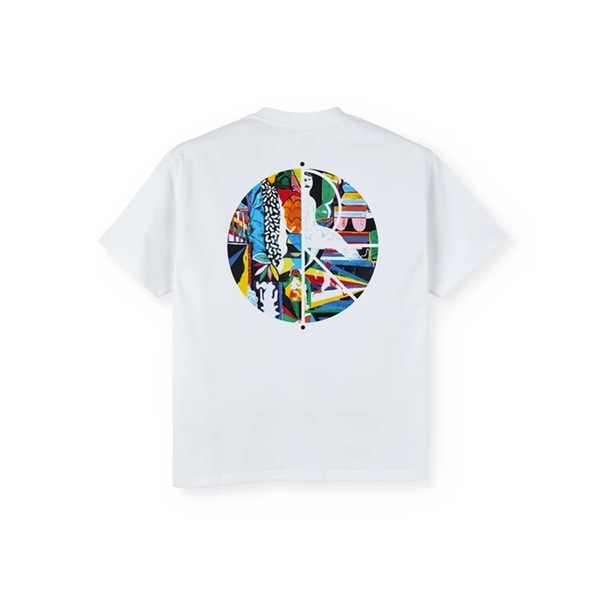 폴라스케이트 반팔 티셔츠  MEMORY PALACE FILL LOGO WHITE  POLAR SKATE CO