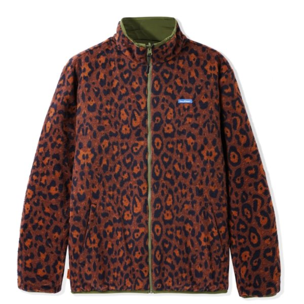 버터굿즈 자켓  REVERSIBLE PUFFER JACKET ARMY LEOPARD  BUTTER GOODS