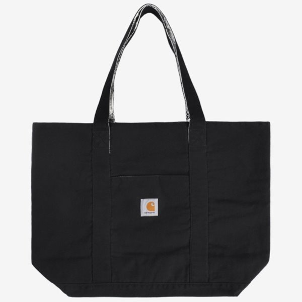 CARHARTT 가방  BANDANA TOTE BAG REVERSIBLE BLACK WAX STONE WASHED  칼하트