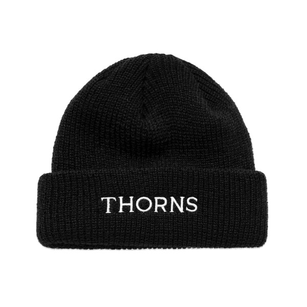 LMC 모자  THORNS SHORT BEANIE BLACK  엘엠씨