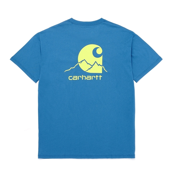 칼하트 티셔츠  OUTDOOR C LABEL T-SHIRT SHORE/LIMEADE  CARHARTT WIP