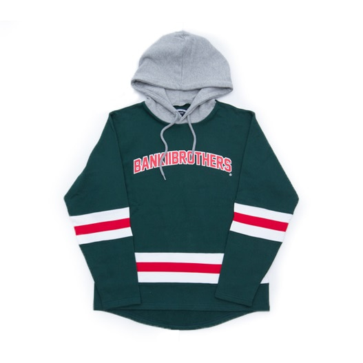 뱅크투브라더스 후드 HOODED HOCKEY COLLEGE GREEN BANKTWOBROTHERS