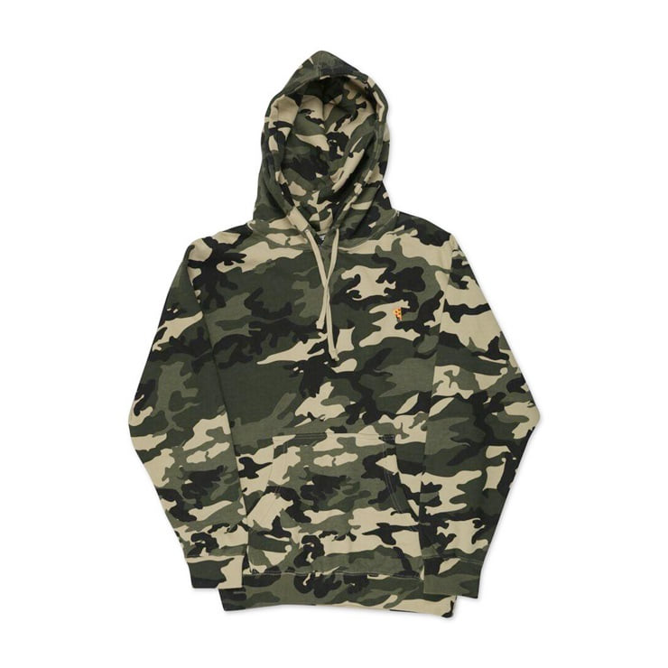 피자스케이트보드 후드 Emoji Camo Hoodie Forest PIZZA SKATEBOARDS
