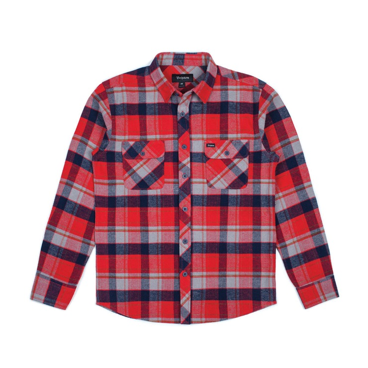 브릭스톤 셔츠  BOWERY L/S FLANNEL RED/HEATHER GREY  브릭스톤