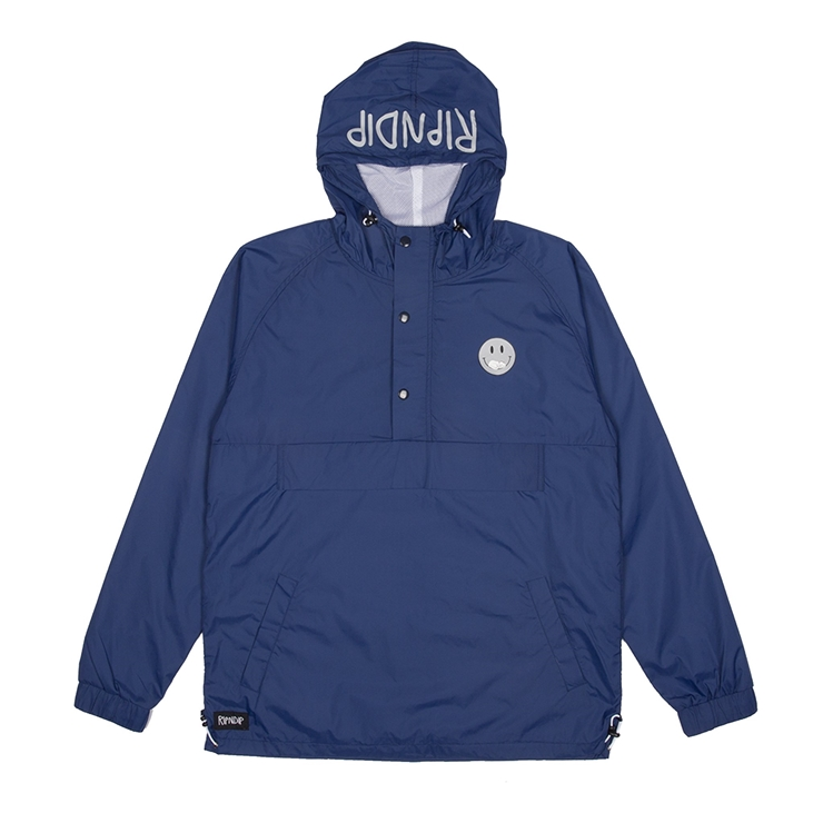립엔딥 자켓  Everything Will Be Ok Anorak Jacket 3M Navy  RIPNDIP