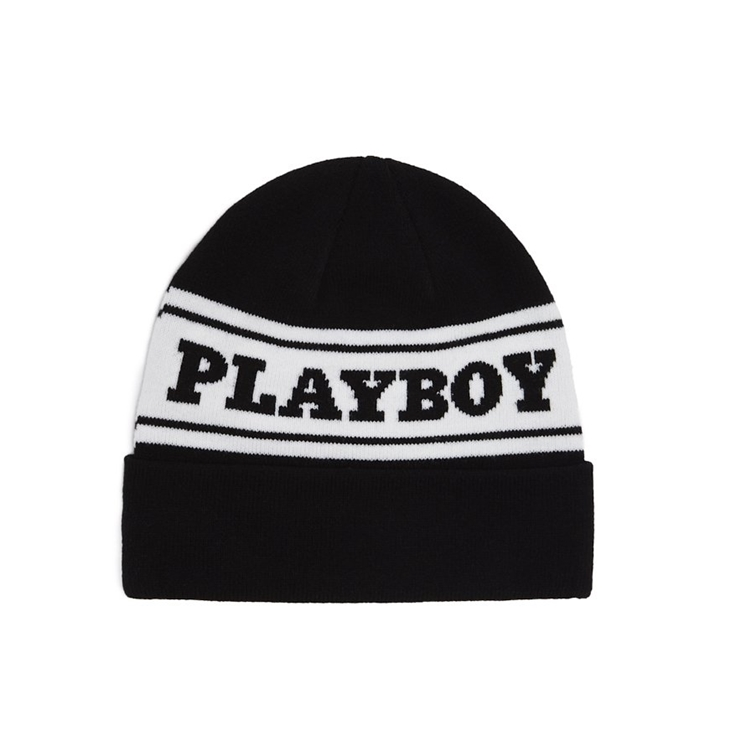 굿월스 비니  GW X PB LOGO BEANIE BLACK/WHITE  GOOD WORTH