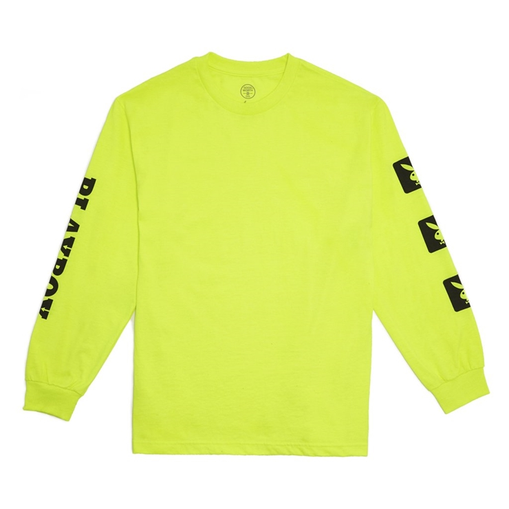 굿월스 롱슬리브  GW X PB BUNNY L/S TSHIRT NEON GREEN  GOOD WORTH