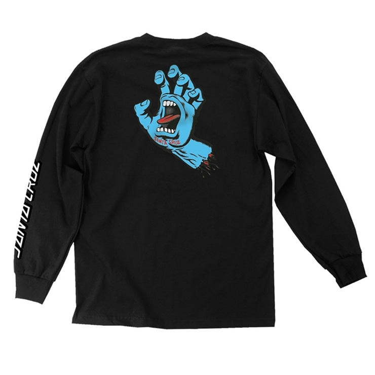 산타크루즈 롱슬리브  SCREAMING HAND L/S BLACK  SANTACRUZ