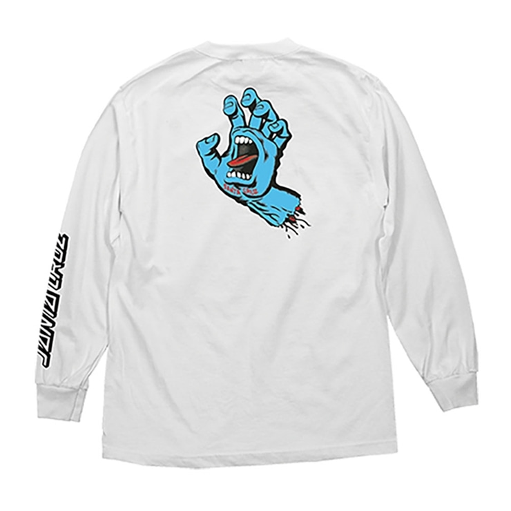산타크루즈 롱슬리브  SCREAMING HAND L/S WHITE  SANTACRUZ