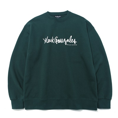 마크곤잘레스 크루넥MARK GONZALES SIGN LOGO CREWNECK GREENMARKGONZALES