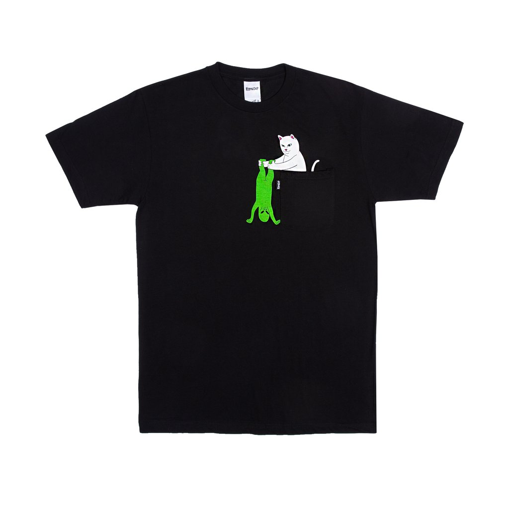립앤딥 포켓티BREAK YO SELF POCKET TEE BLACKRIPNDIP