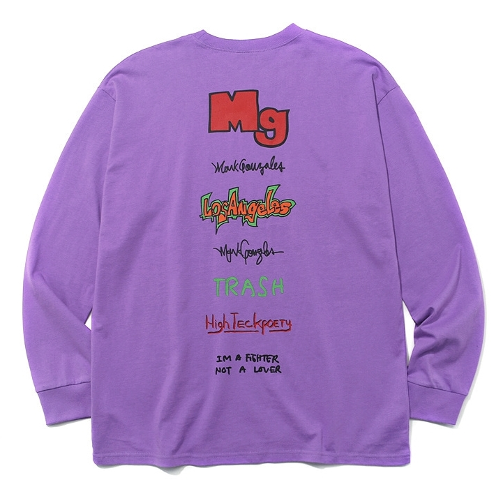 마크곤잘레스 롱슬리브  MULTI LOGO LONG SLEEVE L.PURPLE  MARKGONZALES