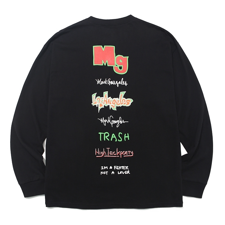 마크곤잘레스 롱슬리브  MULTI LOGO LONG SLEEVE BLACK  MARKGONZALES