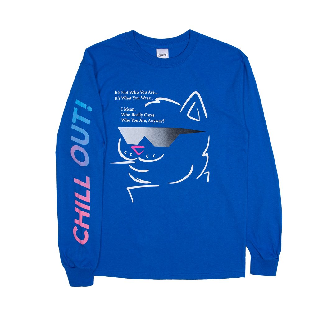 립앤딥 롱슬리브CHILL OUT L/S ROYAL BLUERIPNDIP