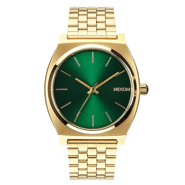 닉슨 시계  TIME TELLER GOLD/GREEN SUNRAY NIXON