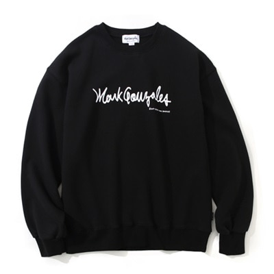 마크곤잘레스 크루넥MARK GONZALES SIGN LOGO CREWNECK BLACKMARKGONZALES