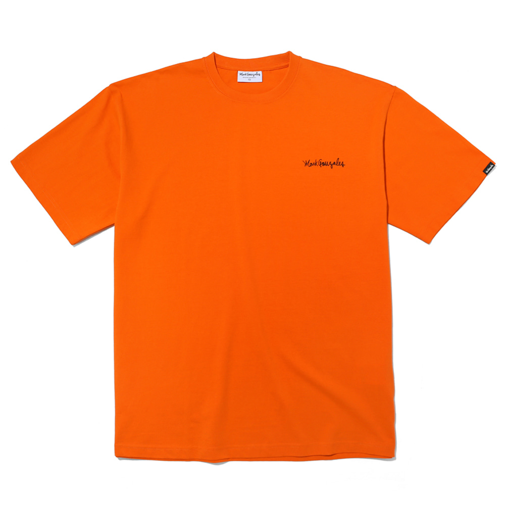 마크곤잘레스 티셔츠M/G SMALL SIGN LOGO T-SHIRTS ORANGEMARKGONZALES
