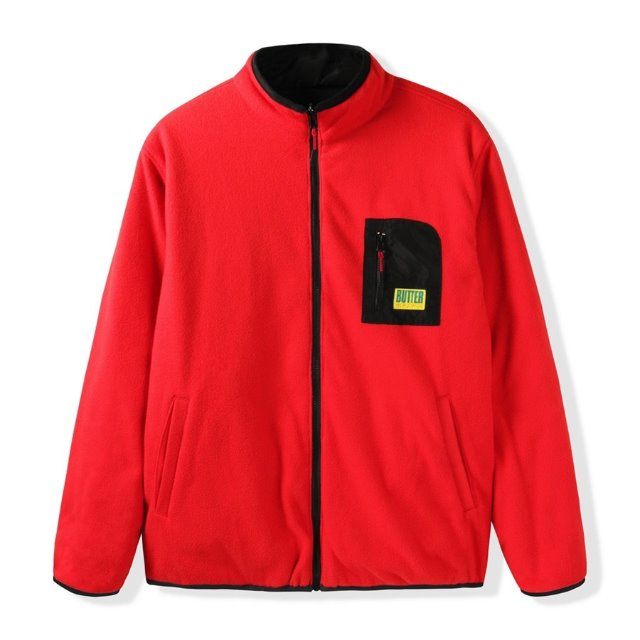 버터굿즈 플리스자켓  ARTIC REVERSIBLE PUFFER JACKET RED  BUTTER GOODS