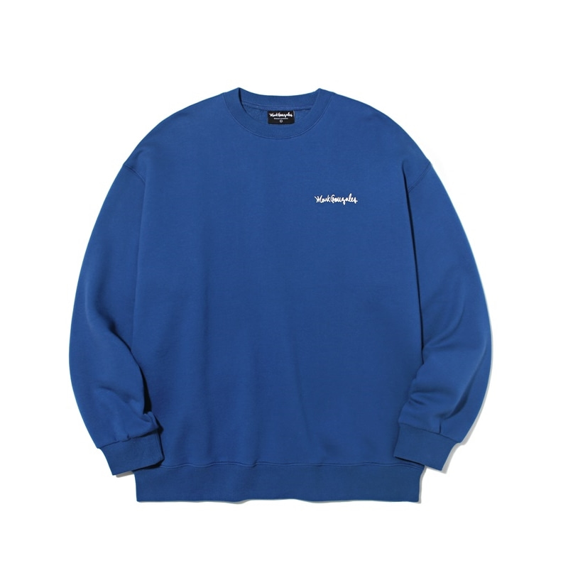 마크곤잘레스 맨투맨  M/G SMALL SIGN LOGO CREWNECK INDIGO BLUE 크루넥