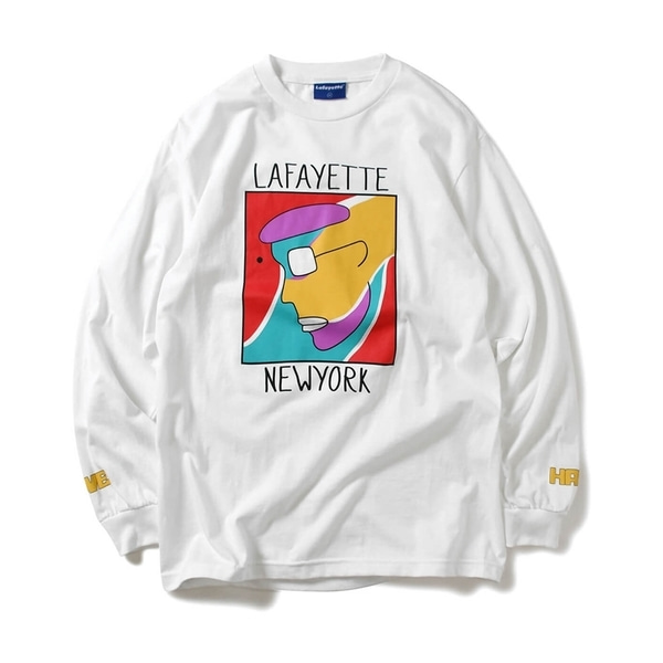 라파예트 롱슬리브  RADIO RAHEEM LOVE HATE L/S TEE WHITE  Lafayette