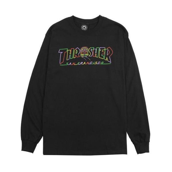 트레셔 롱슬리브  CABLE CAR L/S BLACK  THRASHER