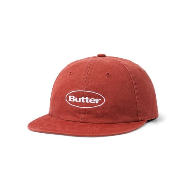 버터굿즈 볼캡  WASHED BADGE 6 PANEL CAP BURGUNDY  BUTTER GOODS