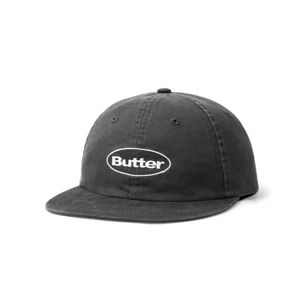 버터굿즈 볼캡  WASHED BADGE 6 PANEL CAP BLACK  BUTTERGOODS