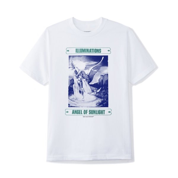 버터굿즈 T-shirt  ILLUMINATIONS TEE WHITE  BUTTER GOODS