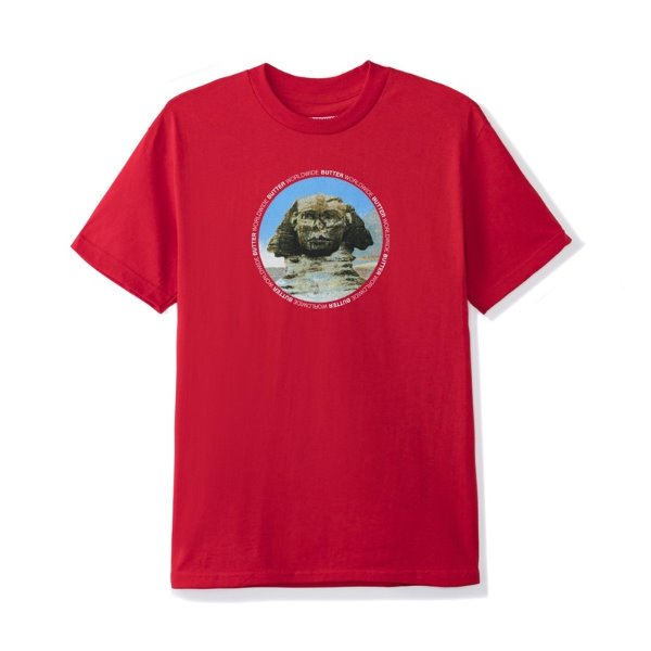 버터굿즈 T-shirt  SPHINX TEE RED  BUTTER GOODS