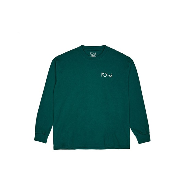 폴라 스케이트 코 롱슬리브  Stroke Logo Longsleeve Dark Green  POLAR SKATE CO.