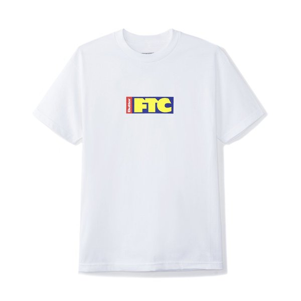 버터굿즈 x 에프티씨 티셔츠  FTC FLAG LOGO TEE WHITE  BUTTER GOODS x FTC