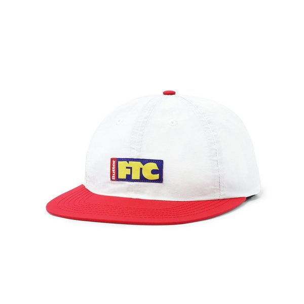 버터굿즈 x 에프티씨 모자 FLAG 6 PANEL CAP OFF-WHITE / RED BUTTER GOODS x FTC