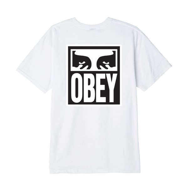 오베이 티셔츠  OBEY EYES ICON 2 BASIC TEE WHITE  OBEY 반팔