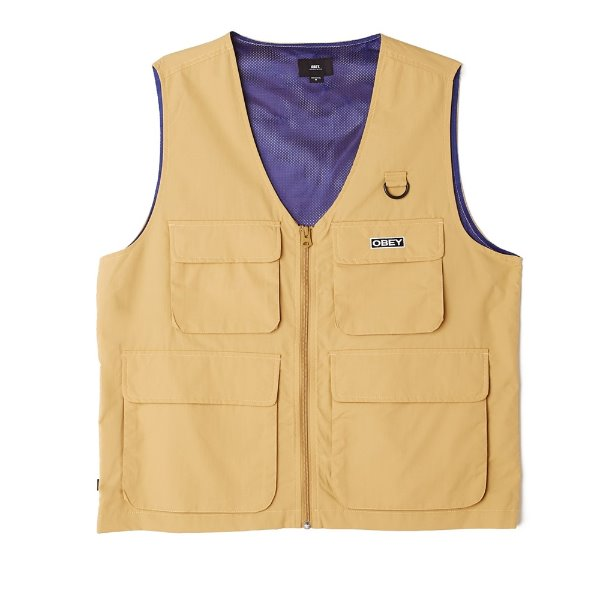 오베이 베스트  OBEY UNDERTONE VEST ALMOND  OBEY