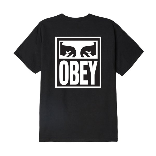 오베이 티셔츠  OBEY EYES ICON 2 BASIC TEE BLACK  OBEY 반팔