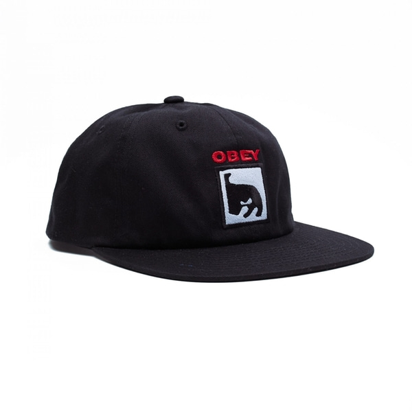 오베이 볼캡  CHAMPION 6 PANEL SNAPBACK BLACK  OBEY