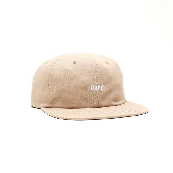 오베이 볼캡  JUMBLED 6 PANEL STRAPBACK KHAKI  OBEY