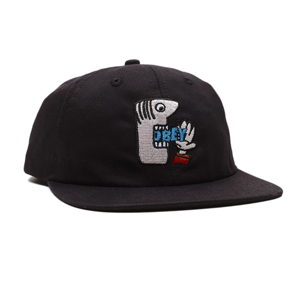 오베이 볼캡  MUNCHIES 6 PANEL STRAPBACK BLACK  OBEY