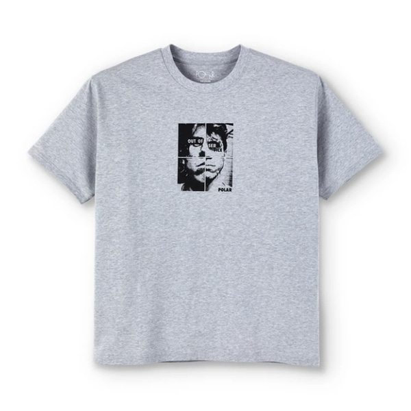 폴라스케이트 반팔 티셔츠  Out Of Service Tee Grey  POLAR SKATE CO