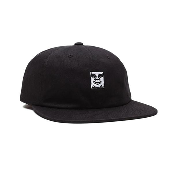 오베이 볼캡  ICON 6 PANEL STRAPBACK BLACK  OBEY