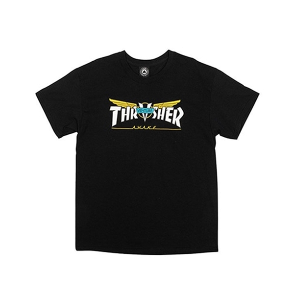 [트래셔 반팔 티셔츠]Venture Collab T-Shirt black [THRASHER]